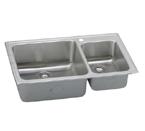 Elkay Lustertone LFGR3722 Topmount Double Bowl Stainless Steel Sink