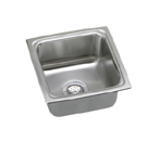 Elkay Lustertone LFRQ1515 Topmount Single Bowl Stainless Steel Sink