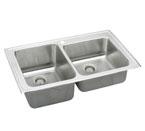 Elkay Lustertone LGR3722 Topmount Double Bowl Stainless Steel Sink