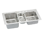 Elkay Harmony LGR4322 Topmount Triple Bowl Stainless Steel Sink