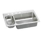 Elkay Lustertone LMR3322 Topmount Double Bowl Stainless Steel Sink