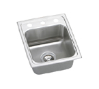Elkay Lustertone LRQ15171 Topmount Single Bowl Stainless Steel Sink