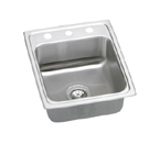 Elkay Lustertone LR1522 Topmount Single Bowl Stainless Steel Sink