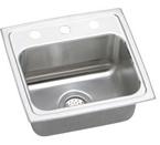 Elkay Lustertone 17x16 3 Hole Single Bowl Sink LR17163