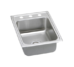 Elkay Lustertone LR1722 Topmount Single Bowl Stainless Steel Sink