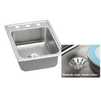 Elkay Perfect Drain LR1722PD Topmount Single Bowl Stainless Steel Sink