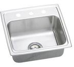 Elkay Lustertone 19x18 3 Hole Single Bowl Sink LR19183