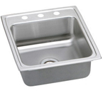 Elkay Lustertone 20x22 3 Hole Single Bowl Sink LR20223