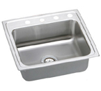Elkay Lustertone 22x19 1 Hole Single Bowl Sink LR22191