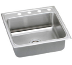 Elkay Lustertone 22x22 3 Hole Single Bowl Sink LR22223