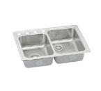Elkay Lustertone LR250L Topmount Double Bowl Stainless Steel Sink