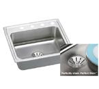 Elkay Perfect Drain LR2521PD Topmount Single Bowl Stainless Steel Sink