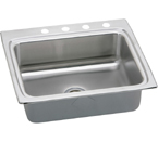 Elkay Lustertone 25x22 4 Hole Single Bowl Sink LR25224
