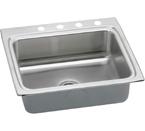 Elkay Lustertone 25x22 4 Hole Single Bowl Sink LR25224
