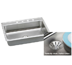 Elkay Perfect Drain LR3122PD Topmount Single Bowl Stainless Steel Sink