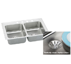 Elkay Perfect Drain LR3321PD Topmount Double Bowl Stainless Steel Sink