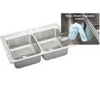 Elkay Gourmet E-Dock LR3322EK Topmount Double Bowl Stainless Steel Sink
