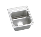 Elkay Lustertone LRAD1517 U-Channel Topmount Single Bowl Stainless Steel Sink
