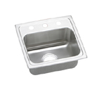 Elkay Lustertone LRAD1716 U-Channel Topmount Single Bowl Stainless Steel Sink