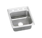 Elkay Lustertone LRAD1720 U-Channel Topmount Single Bowl Sink
