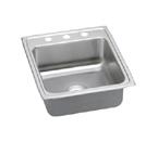 Elkay Lustertone LRADQ2022 Quick Connect Topmount Single Bowl Stainless Steel Sink