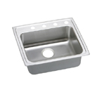 Elkay Lustertone LRAD2219 U-Channel Topmount Single Bowl Stainless Steel Sink