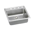 Elkay Lustertone LRAD2222 U-Channel Topmount Single Bowl Sink