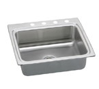Elkay Lustertone LRAD2522 U-Channel Topmount Single Bowl Stainless Steel Sink