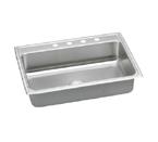 Elkay Lustertone LRAD3122 U-Channel Topmount Single Bowl Stainless Steel Sink