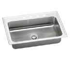 Elkay Lustertone LRS3322 Topmount Single Bowl Stainless Steel Sink