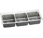Elkay Lustertone LTR5422 Topmount Triple Bowl Stainless Steel Sink