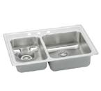 Elkay Lustertone LWR3322 Topmount Double Bowl Stainless Steel Sink