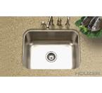 Houzer MS-2309 Undermount Single Bowl Stainless Steel Sink
