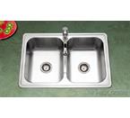 Houzer PGD-3322 Topmount Gourmet Double Bowl Stainless Steel Sink