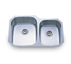 Pelican PL-801L 16 Gauge Double Bowl Stainless Steel Sink