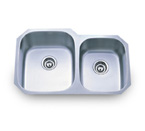 Pelican PL-801L 18 Gauge Double Bowl Stainless Steel Sink