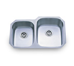 Pelican PL-801R 18 Gauge Double Bowl Stainless Steel Sink