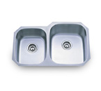Pelican PL-801R 16 Gauge Double Bowl Stainless Steel Sink