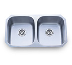 Pelican PL-802 16 Gauge Double Bowl Stainless Steel Sink