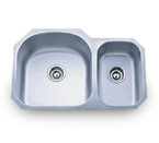 Pelican PL-807L 16 Gauge Double Bowl Stainless Steel Sink