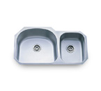 Pelican PL-817L 18 Gauge Double Bowl Stainless Steel Sink