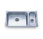 Pelican PL-830 18 Gauge Double Bowl Stainless Steel Sink