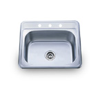 Pelican PL-960 18 Gauge Topmount Single Bowl Stainless Steel Sink