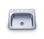 Pelican PL-960 18 Gauge Topmount Single Bowl Stainless Steel Sink
