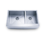 Pelican PL-HA125 Double Bowl Handmade Stainless Steel Sink