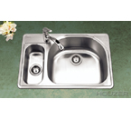 Houzer PMG-3322SL Topmount 80/20 Double Bowl Stainless Steel Sink