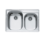 Franke Regatta RGX620 Topmount Double Bowl Stainless Steel Sink