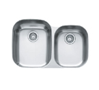 Franke Regatta RGX160 Undermount Double Bowl Stainless Steel Sink