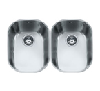 Franke Compact CPX120 Undermount Double Bowl Stainless Steel Sink