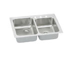 Elkay Pacemaker PSR250 Topmount Double Bowl Stainless Steel Sink